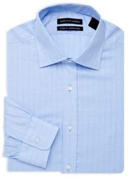 Saks Fifth Avenue Classic-Fit Checkered Dress Shirt