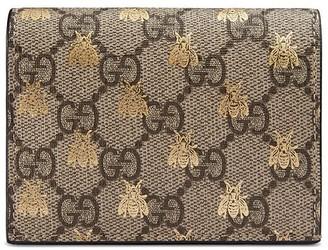 Gucci GG Supreme bees card case