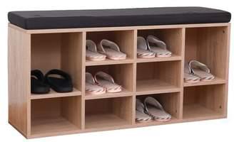 Latitude Run 10 Pair Shoe Storage Bench