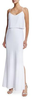 Laundry By Shelli Segal Sleeveless Popover Gown, Optic White $325 thestylecure.com