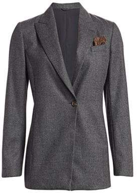 Brunello Cucinelli Stretch Wool Jacket & Pocket Square