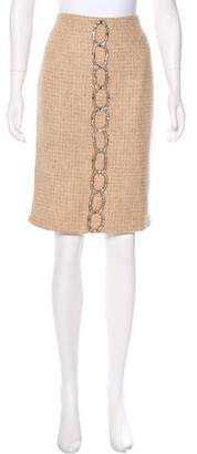 Tracy Reese Embellished Wool-Blend Skirt