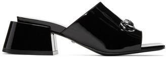 Gucci Black Patent Lexi Heel Sandals