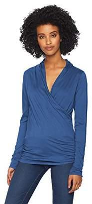 Velvet by Graham & Spencer Women's Meri Surplice Long Sleeve Top