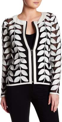 Dolce Cabo Faux Leather Leaf Jacket