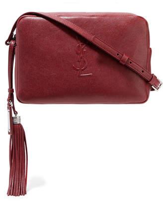 Saint Laurent Monogramme Lou Leather Shoulder Bag - Burgundy