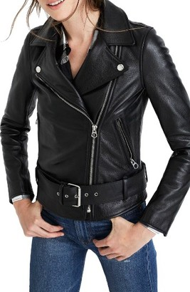 Women's Madewell Leather Moto Jacket $498 thestylecure.com