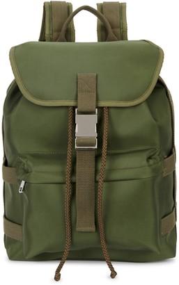 Sylvain olive nylon backpack