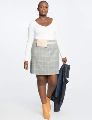 Plaid A Line Mini Skirt