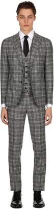 Tagliatore Unlined Wool Prince Of Wales Suit