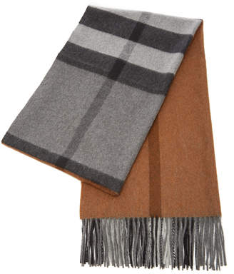 Burberry Check Patterned Cashmere Scarf