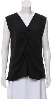 Armani Collezioni Cashmere Knit Top Grey Cashmere Knit Top