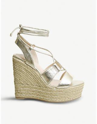 6291317ee68 Office Hula Hula ghillie wedge heel sandals