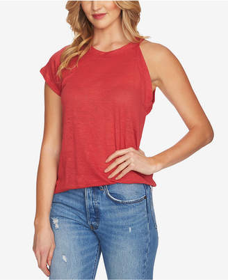 1 STATE 1.state Linen One-Sleeve Knit Top