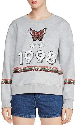 Maje Talia Embellished Sweatshirt