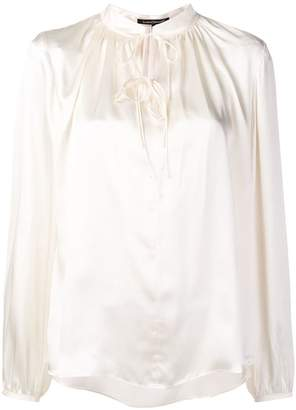 Luisa Cerano lace-up front blouse