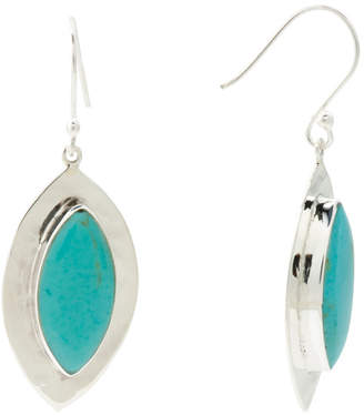 Made In Mexico Sterling Silver Marquise Turquoise Earrings