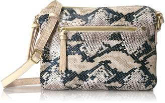 T-Shirt & Jeans Faux Snake Double Zipper Cross Body Cross Body