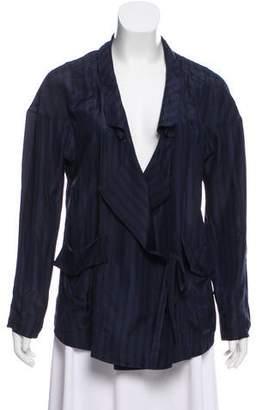 Marni Silk Striped Wrap Blouse