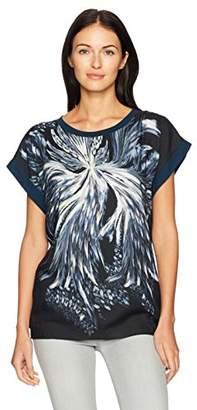 Just Cavalli Womens Blast of Baroque Print Tee
