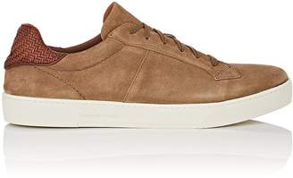 Ermenegildo Zegna Men's BNY Sole Series: Vulcanizzato Burnished Suede Sneakers