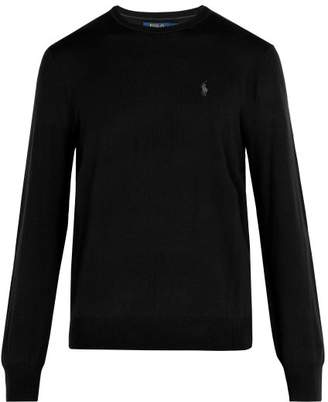 Polo Ralph Lauren Logo Embroidered Wool Sweater - Mens - Black