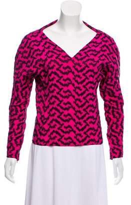 Balenciaga Embroidered Silk Top