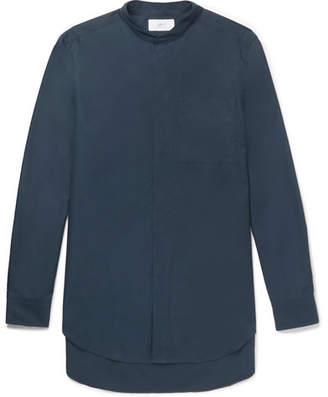 Mr P. Grandad-Collar Cotton-Poplin Shirt