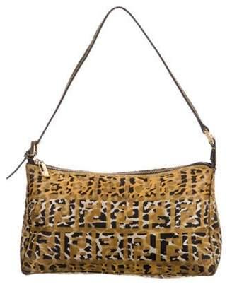 Fendi Animal Zucca Shoulder Bag black Animal Zucca Shoulder Bag