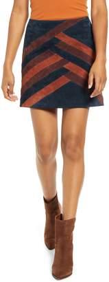 Blank NYC Blanknyc Colorblock Suede Miniskirt