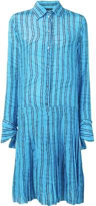 Rokh striped shirt dress