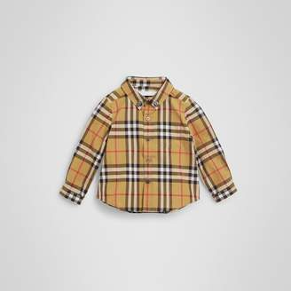 Burberry Childrens Button-down Collar Vintage Check Cotton Shirt