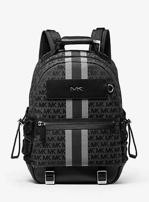 Michael Kors Brooklyn Logo Stripe Jacquard Backpack