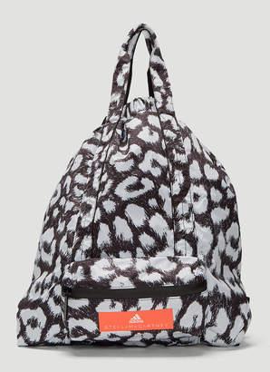 adidas by Stella McCartney Leopard Print Gym Sack in Grey 047eede34e6b5