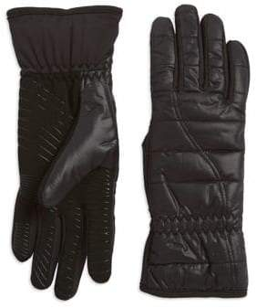 URBAN RESEARCH Powered Faux Fur-Lined Quilted Gloves