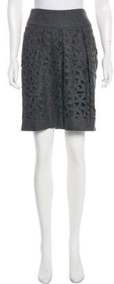 Gunex Virgin Wool Laser Cut Skirt