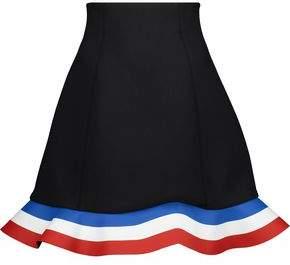 J.W.Anderson Orbit Hem Fluted Neoprene And Striped Coated Twill Mini Skirt