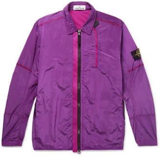 Stone Island Garment-Dyed Webbing-Trimmed Nylon-Metal Jacket