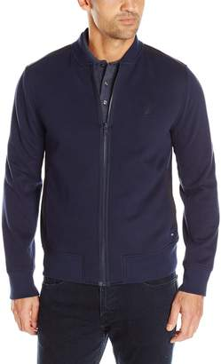 Nautica Men's Fleece Solid Full-Zip Knit
