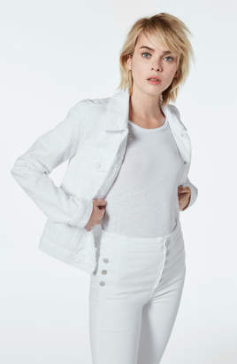 J Brand Slim Jacket in Optic White