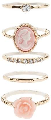 Forever 21 Rose & Portrait Ring Set