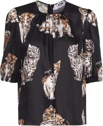 MSGM Printed Cat Blouse