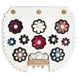 Furla MY PLAY Interchangeable Metropolis Pearl Flower Print Leather Flap