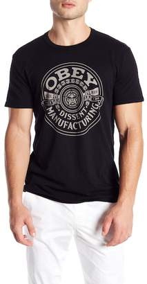 Obey Short Sleeve Front Graphic Print Tee