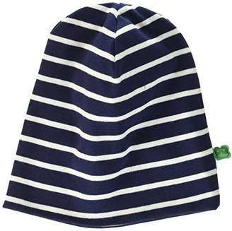 Green Cotton Fred's World by Stripe Beanie,Large