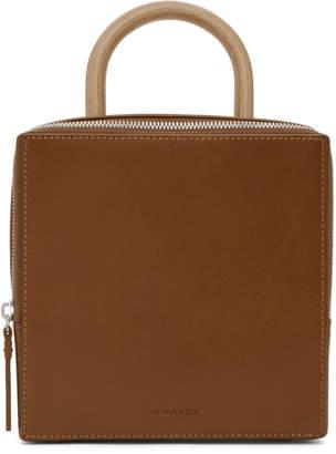Building Block Brown Box Bag