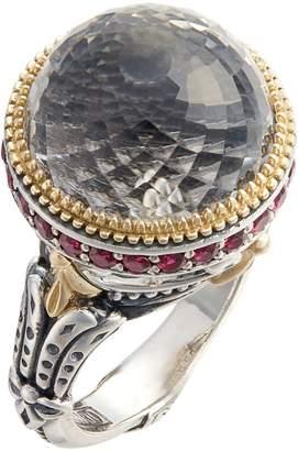 Konstantino Pythia Large Crystal Ring