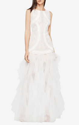 BCBGMAXAZRIA Vivica Embroidered Gown $598 thestylecure.com