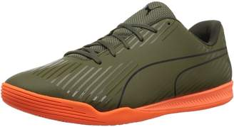 Puma Men's Evospeed Star S2 Ignite Soccer Shoe, Olive Night Black-Shocking Orange