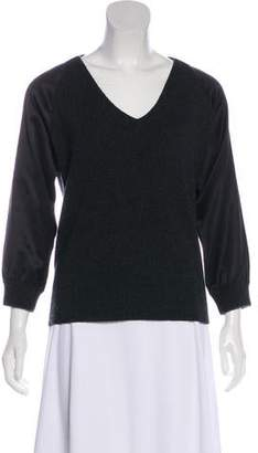 Golden Goose V-Neck Rib Knit Sweater